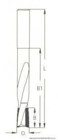Фреза для выборки глубоких пазов под дверные и мебельные замки W.P.W. DT16002S