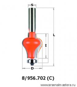 CMT 956.702.11 Фреза для перил бок (C) S12 D31,75x38