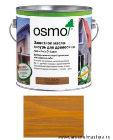 Защитное масло-лазурь для древесины для наружных работ OSMO Holzschutz Ol-Lasur 706 Дуб 2,5 л