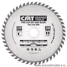 CMT 292.190.64M Диск пильный для поперечного реза 190x30x2,6/1,6 15гр 15гр ATB Z64