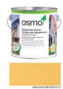 Защитное масло-лазурь для древесины для наружных работ OSMO 710 Holzschutz Ol-Lasur Пиния 2,5 л
