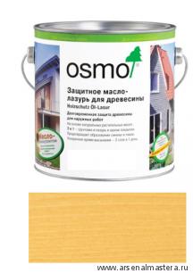 Защитное масло-лазурь для древесины для наружных работ OSMO 710 Holzschutz Ol-Lasur Пиния 0,125 л