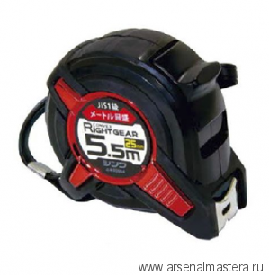 Рулетка японская Shinwa Right Gear 5.5м 25мм с петлёй М00013231