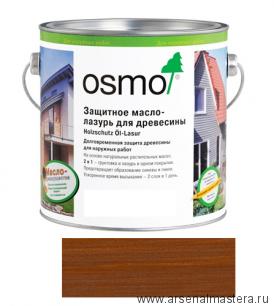 Защитное масло-лазурь для древесины для наружных работ OSMO Holzschutz Ol-Lasur 708 Тик 2,5 л