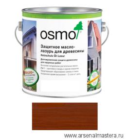 Защитное масло-лазурь для древесины для наружных работ OSMO Holzschutz Ol-Lasur 703 Махагон 0,75 л