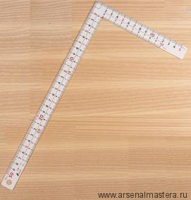 Угольник плоский Shinwa 300х150мм отсчёт нижней шкалы - от внутреннего угла М00013225
