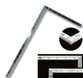 Угольник плоский Shinwa фигурный профиль 500х250мм, отсчет от внешнего угла М00013243