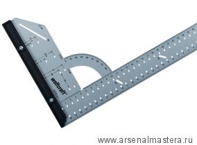 Угольник разметочный, многофункциональный стальной 280х500мм Wolfcraft 5206000