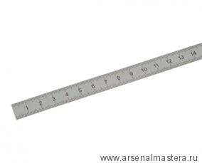 Линейка стальная 1000х38х2 мм, шкала 1 мм Kinex 1024