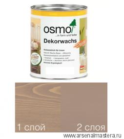Масло цветное интенсив Osmo Dekorwachs Intensive Tone 3132 Серо-бежевый 0,375 л