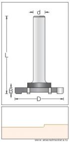 Фреза обгонная концевая шестизубая S12 D52x6,5x83 Dimar 1600059