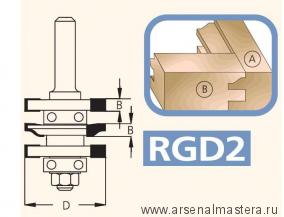 Фрезы концевые профиль-контрпрофиль не требующие пересборки (комплект) серии RGD2  WPW RGD2002